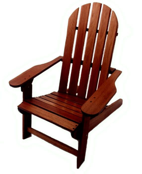 Eucalyptus Wood Adirondack Folding Chair
