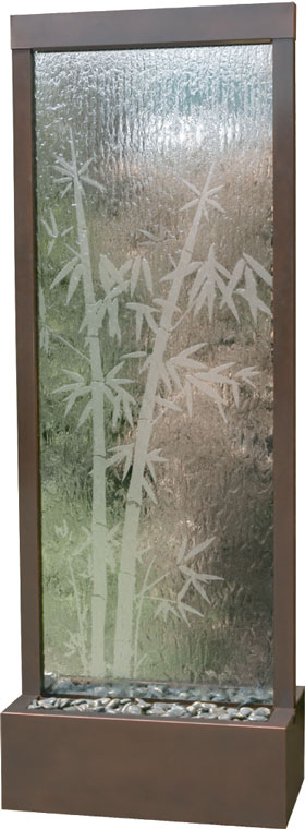 Bamboo Etched Glass Waterfall