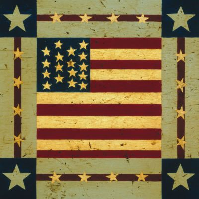 Square Flag Outdoor Art 24X24