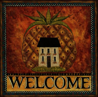 Welcome House Outdoor Art 24X24