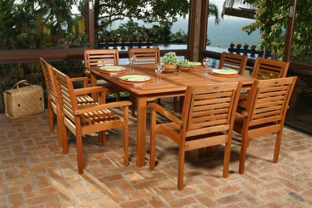 Eucalyptus Wood Dining Set Park Patio Furniture : outdoorwoodpatiodiningset from parkpatiofurniture.com size 640 x 427 jpeg 81kB